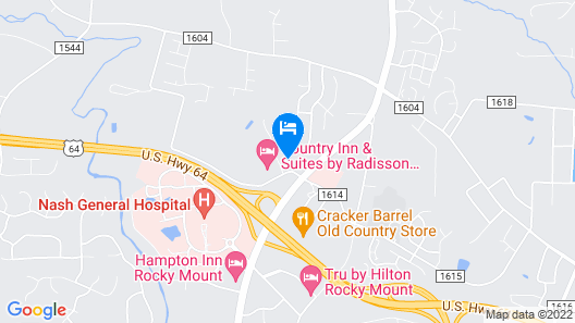 Candlewood Suites Rocky Mount, an IHG Hotel Map