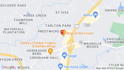 Hampton Inn Raleigh / Town Of Wake Forest Map
