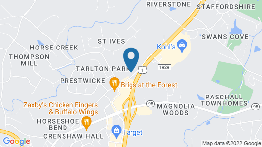 Clarion Pointe Wake Forest - Raleigh North Map