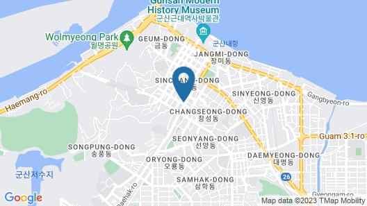 Gunsan CA Hotel Map