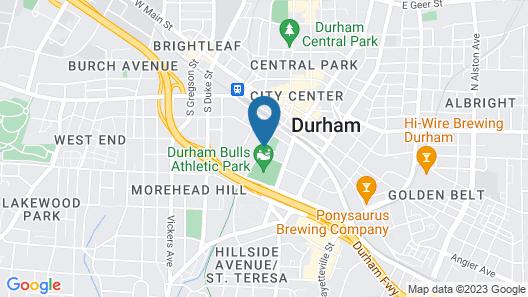Aloft Durham Downtown Map