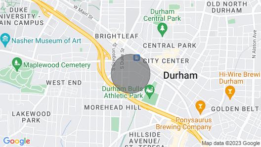Viagem Durham Downtown Urban 2BR W/parking Map