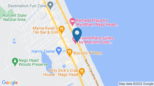 TownePlace Suites by Marriott Outer Banks Kill Devil Hills Map