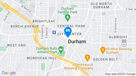 21c Museum Hotel Durham Map