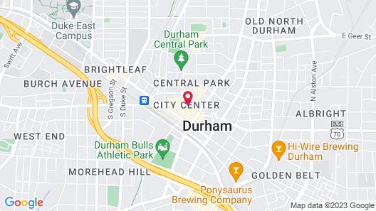 The Durham Hotel Map