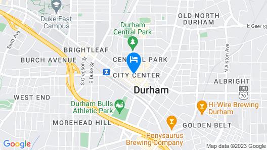 Durham Marriott City Center Map