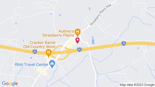 Hampton Inn Knoxville East Map