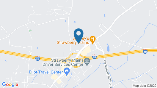 Motel 6 Knoxville, TN - East Map