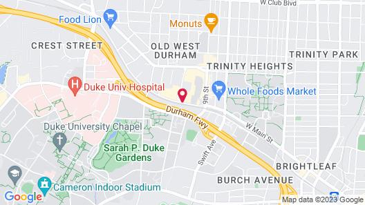 Hilton Garden Inn Durham/University Medical Center Map