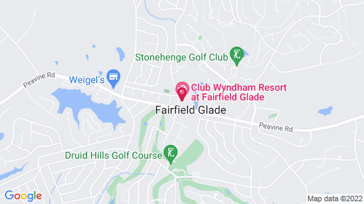 Club Wyndham Resort at Fairfield Glade Map