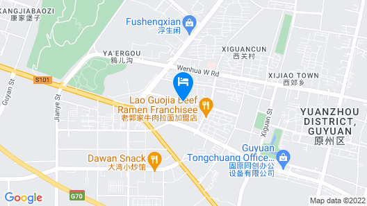 Atour Hotel Taihe Road Guyuan Map