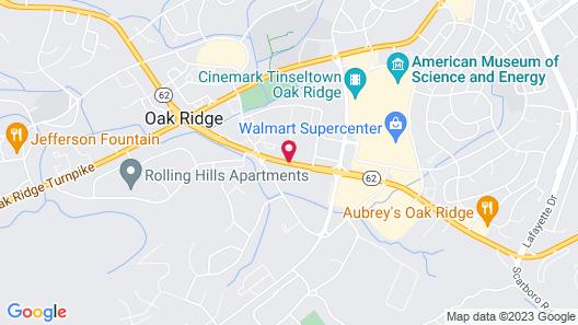 DoubleTree by Hilton Hotel Oak Ridge - Knoxville Map