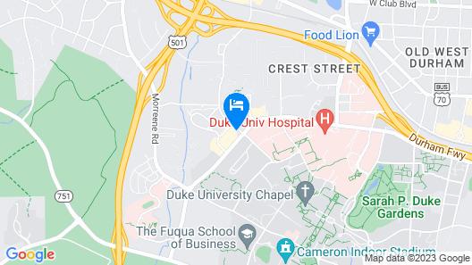 AC Hotel Durham Map