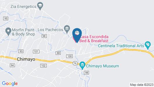 Casa Escondida Bed & Breakfast Map