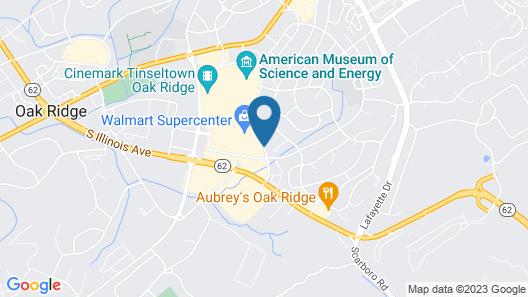 Comfort Inn Oak Ridge - Knoxville Map