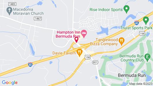 Hampton Inn Bermuda Run, NC Map