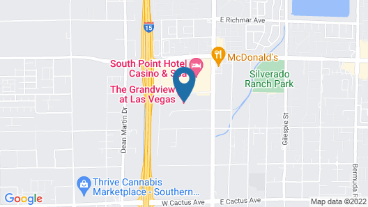 Beautiful View at Las Vegas Map