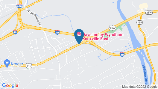 Days Inn by Wyndham Knoxville East Map