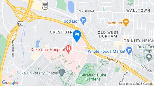 University Inn Durham next to Duke University Medical Center Map