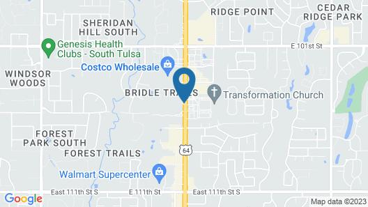 Hampton Inn & Suites Tulsa South/Bixby Map