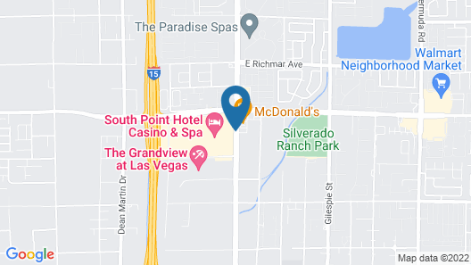 South Point Hotel, Casino, and Spa Map