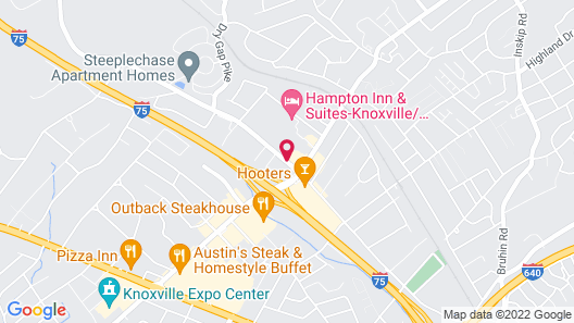 Red Roof Inn Knoxville North - Merchants Drive Map