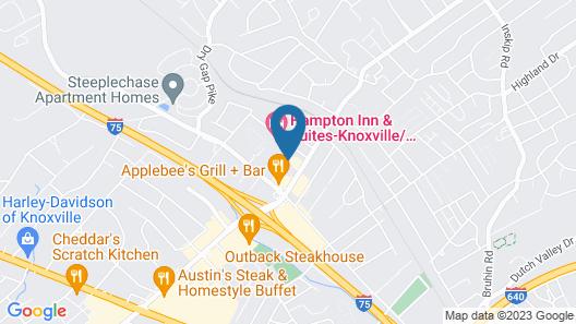 Quality Inn Merchants Drive Map