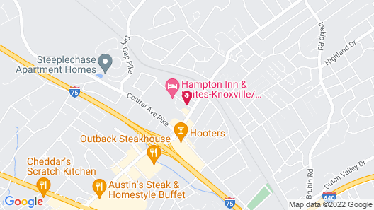 Best Western Knoxville Suites - Downtown Map