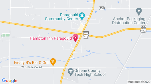 Hampton Inn Paragould Map