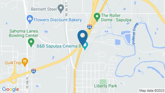 Super 8 by Wyndham Sapulpa/Tulsa Area Map