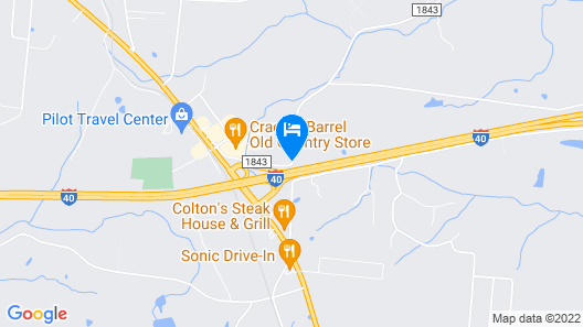 Hampton Inn Dickson Map