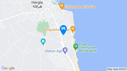 Apartment With 2 Bedrooms in Hergla, With Terrace and Wifi - 200 m From the Beach Map