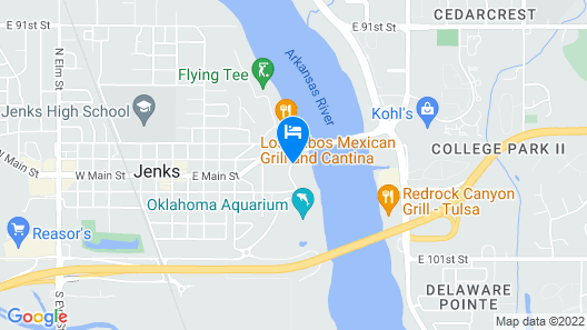 Holiday Inn Express Hotel & Suites Jenks, an IHG Hotel Map
