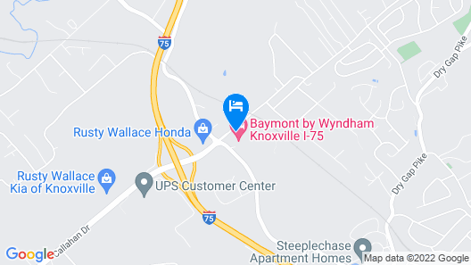 Days Inn by Wyndham Knoxville North Map
