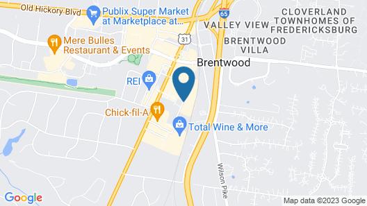 Hilton Garden Inn Nashville Brentwood Map