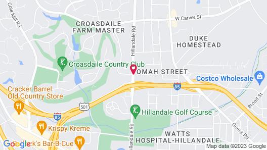 Comfort Inn & Suites Durham near Duke University Map