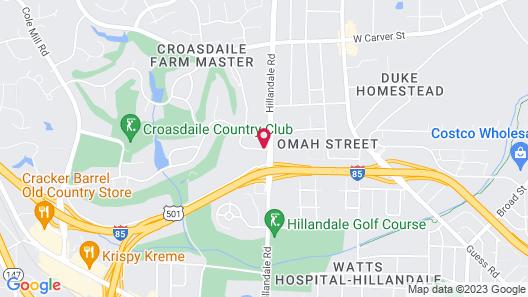 Courtyard by Marriott Durham Map