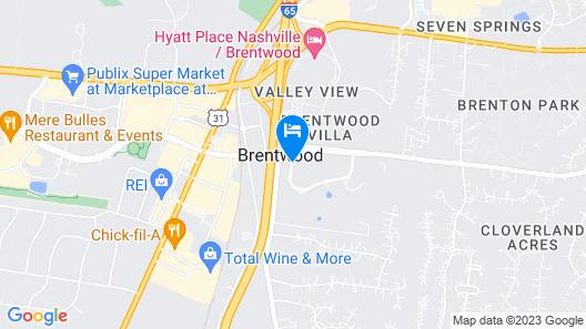 Hilton Brentwood/Nashville Suites Map