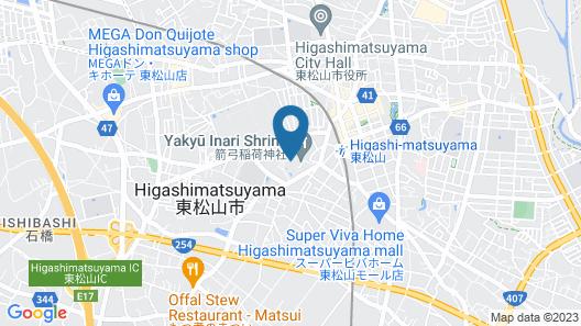 GARDEN HOTEL SHIUNKAKU HIGASHIMASTUYAMA Map