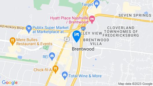 Springhill Suites Nashville Brentwood Map