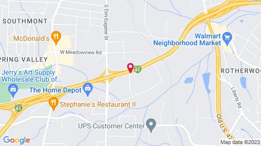 Super 8 by Wyndham Greensboro Map