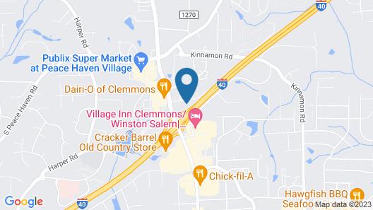 Quality Inn Clemmons I-40 Map