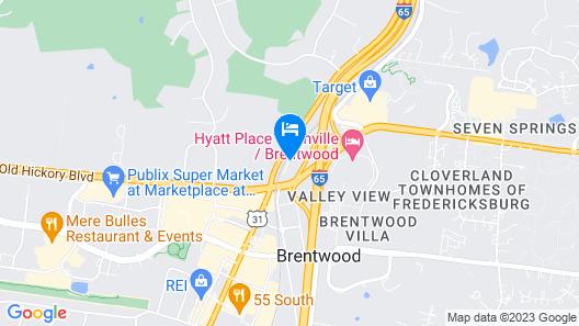 Hampton Inn Nashville/Brentwood-I-65S Map