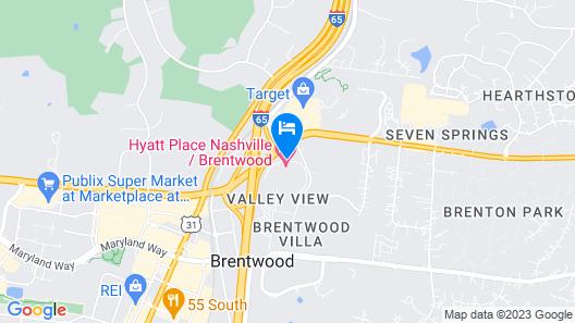 Hyatt Place Nashville Brentwood Map