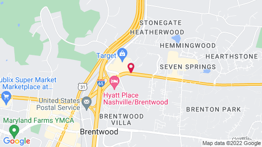 Four Points by Sheraton Nashville-Brentwood Map