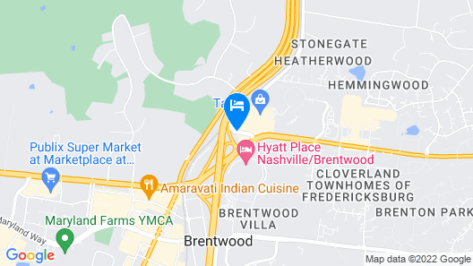 Best Western Brentwood Map