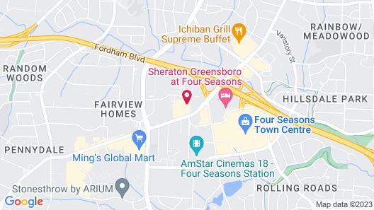 Drury Inn & Suites Greensboro Map