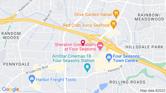 Best Western Plus Greensboro/Coliseum Area Map