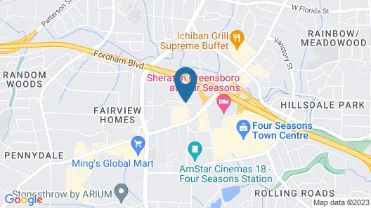 Best Western Plus Greensboro/Coliseum Area Map
