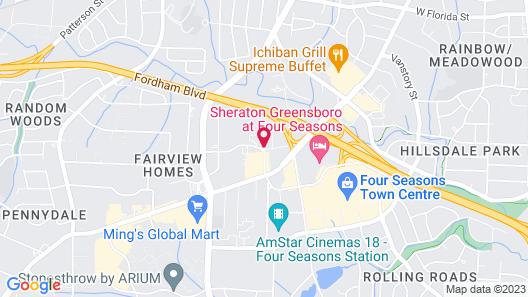 Howard Johnson by Wyndham Greensboro Near the Coliseum Map